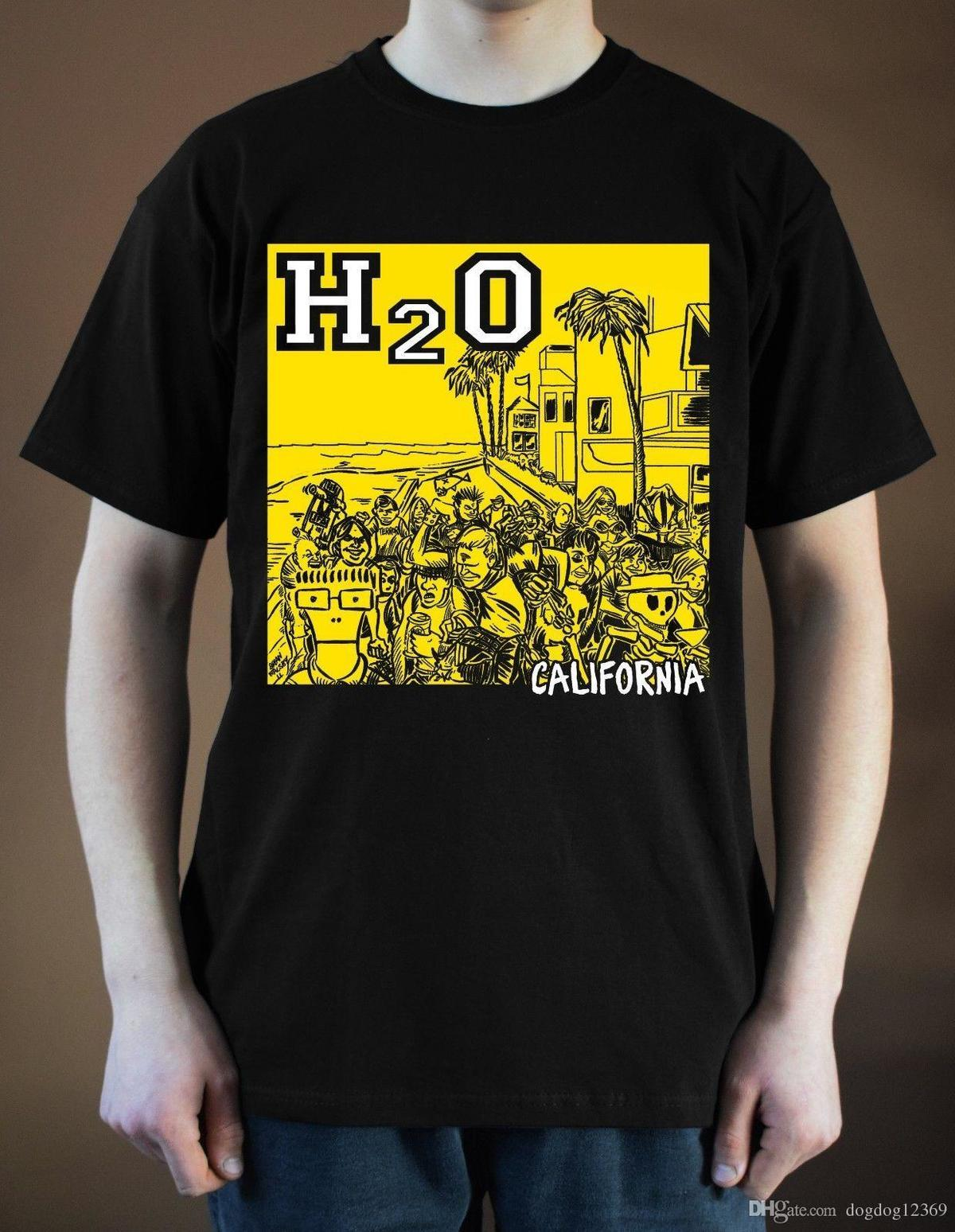 H2O California T-Shirt ver  1 Album Cover Punk Rock (Black)