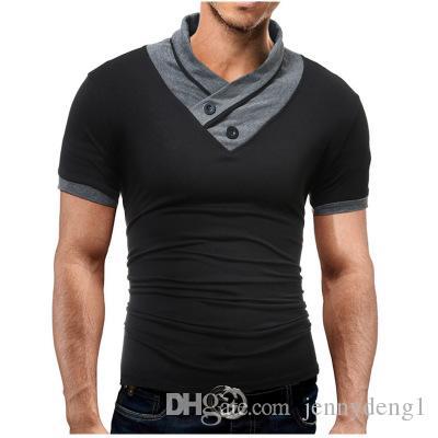 moda de alta calidad mejor diseño Unirnos juntos traer cuello en v camisetas de algodón hombres