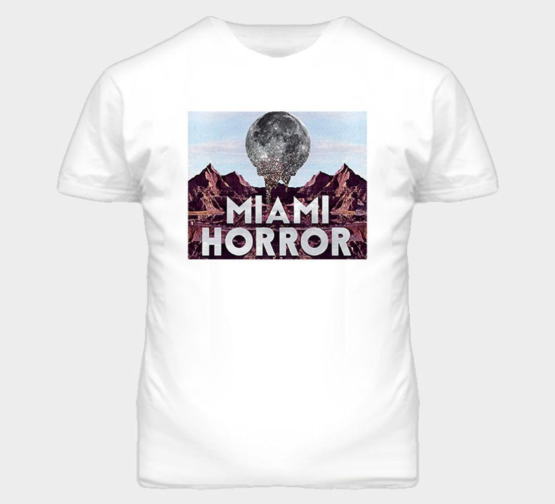 Miami Horror Artwork Music Australia Indie Dj White T Shirt Comical ...