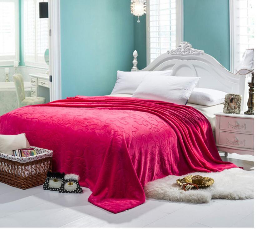 2015 Cute Soft 200x230cm 1300g 3d Flannel Fleece Blanket Bed Sheets