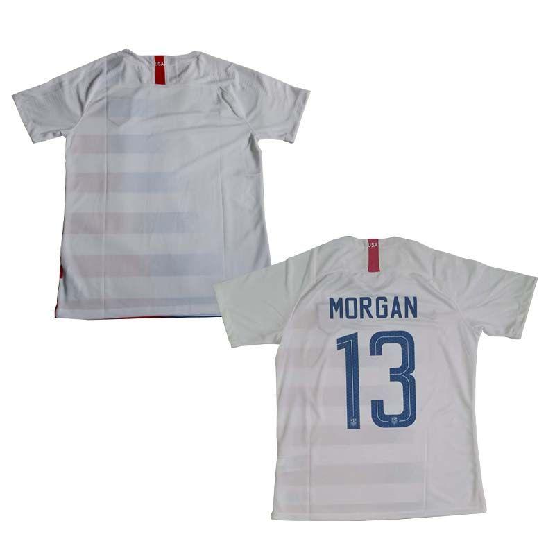 Compre 18 19 EUA Jersey Casa Dos Homens Cor Branca Tamanho S XL EUA Nação  Camisa   10 PULÍSTICA   13 MORGAN Camisas De Futebol De Excellentboy03 17a81610ae2ee