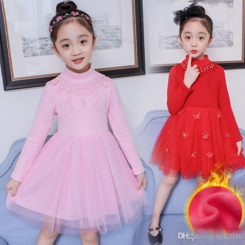 d40d112f4e7e 2019 Baby Kids Clothing Girl S Christmas Pageant Dresses Vintage Lace  Flower Girls Ball Gown Xmas Holiday Chinese Winter Red Dress Tutu  8059  From Hch2016