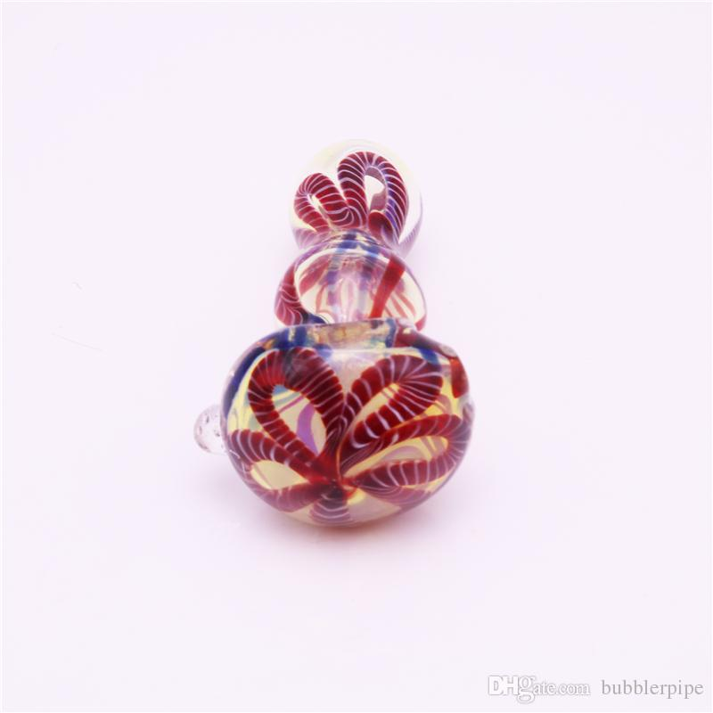 Mini hand glass pipe 3.5inch smoking pipe spoon bubbler pipe Hybrid Spill Proof smoking hand glass mini tobacco pipes