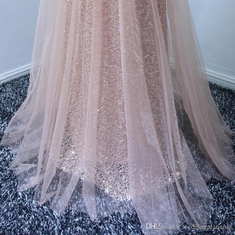 2018 Blush Pink Women Prom Dress A line Fitted Long Formal Maxi Gowns for Special Occasion Vestidos de Noiva Longa