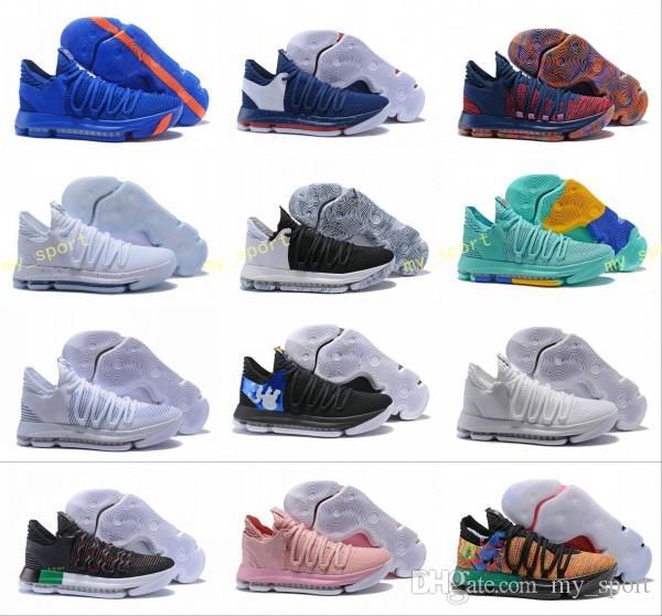 6ca6e780e6b 2018 KD 10 X Mens Basketball Shoes Kevin Durant 10s Orange Pure Platinum  BHM Oreo Triple Lmtd City Series Features KD10 Sports Sneakers Shoes Canada  Carmelo ...