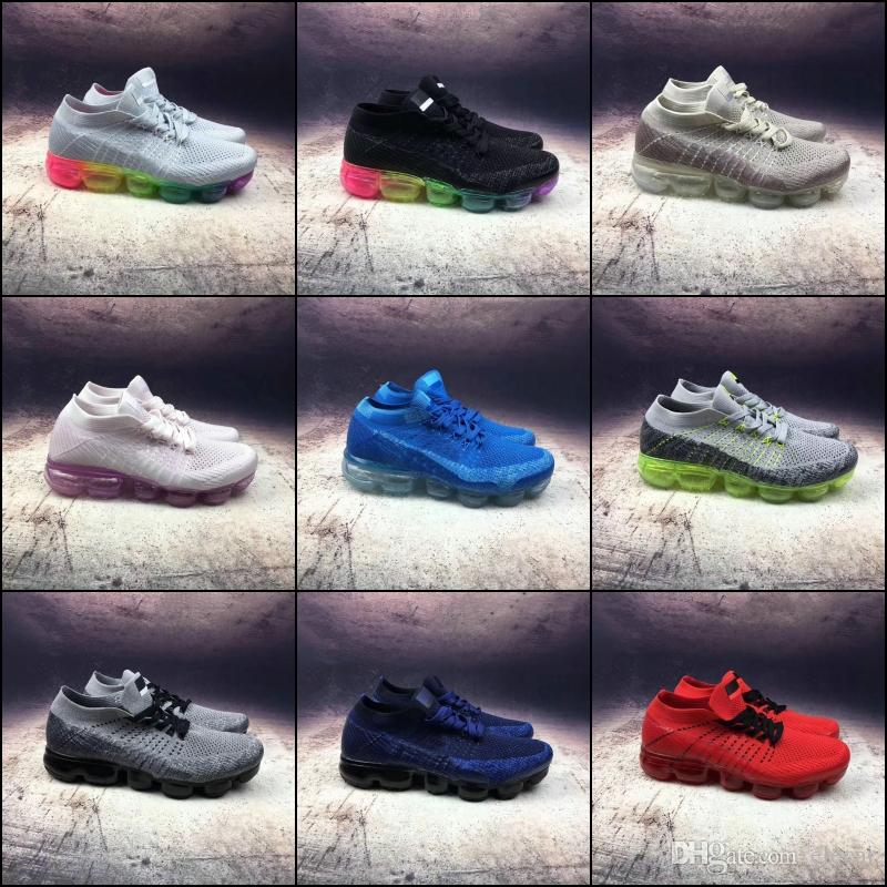 new style c6b56 75771 2018 Top Quality Running Shoes for Men Multi Cushion Lightweight Fashion  Sneakers Hot Sale Womens Breathable Sports Boots Size 36-45 Best Shoes for  Running ...