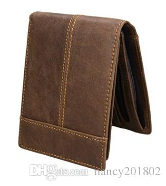 cbfa8ac68198 Genuine Leather Men Wallets New Male Short Purse Brand Design Money Trifold  Clutch Wallet With Card Holder Coin Bags Tignanello Wallets Awesome Wallets  From ...