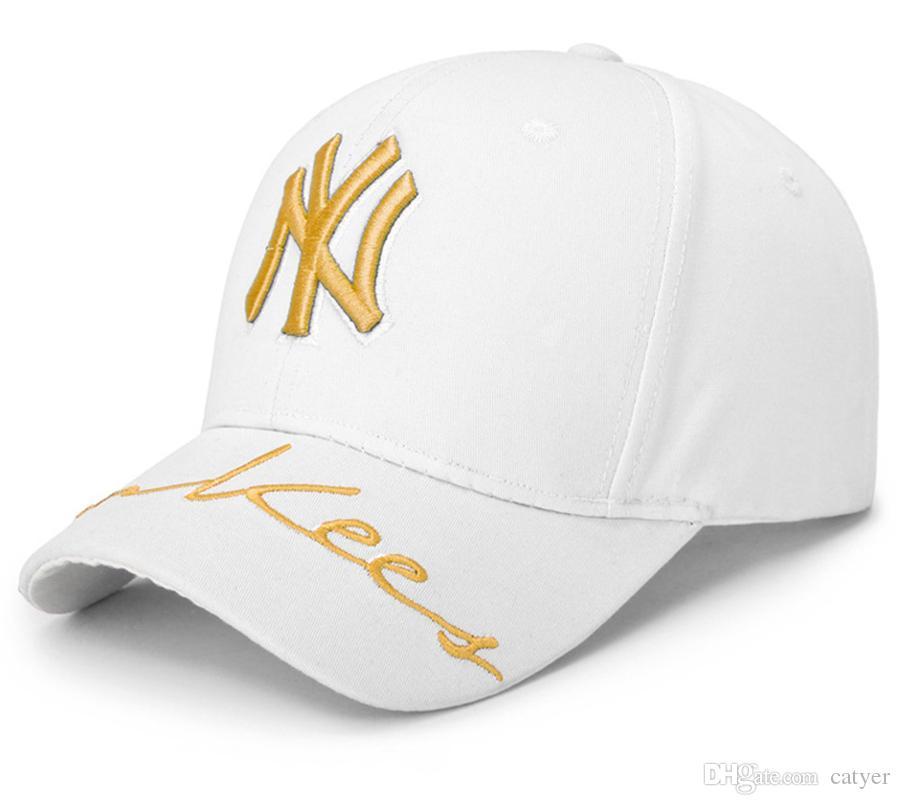 920b6516ca0 NY Baseball Caps 5 Colour Hiphop Men Women Hat Adjustable Hats 3D ...