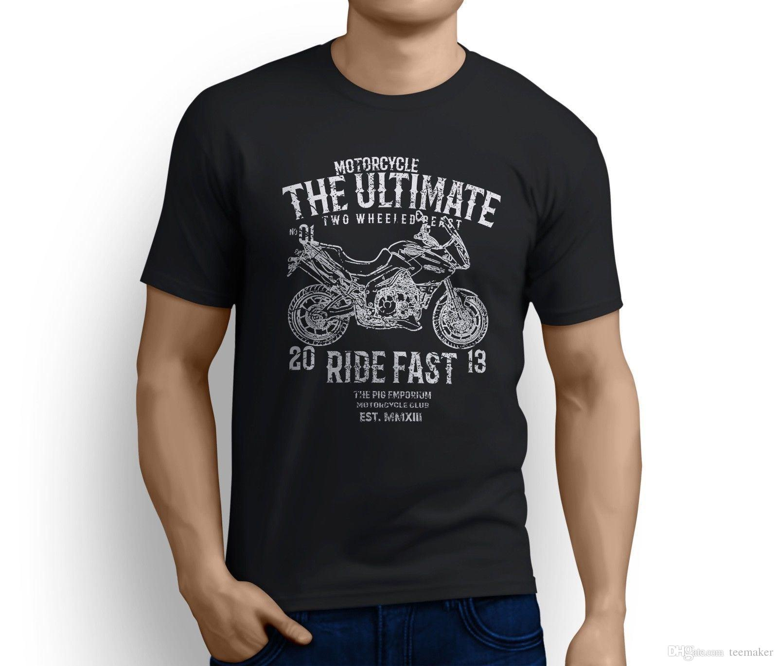 Rh Ultimate Triumph Tiger Inspired Motorcycle Art T Shirt Cotton Cool Design 3d Tee Shirts