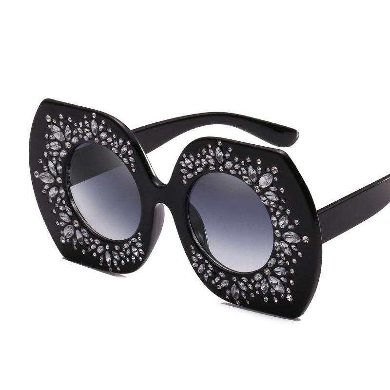 4ba26d0ba0 Oversize Women Square Sunglasses Luxury Brand Crystal Shades UV400 Red Pink  Eyewear Big Sun Glasses for Lady Female Oculos Oversized Sunglasses Crystal  ...