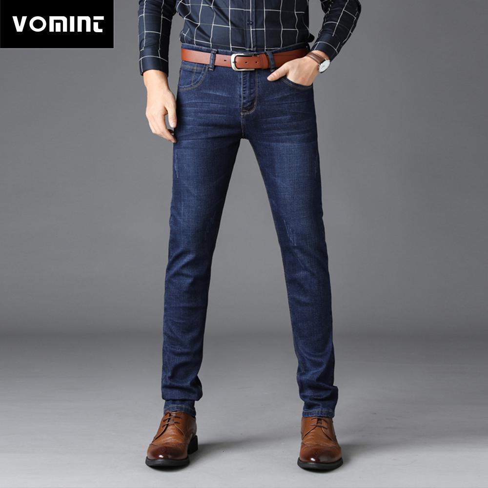 b81d700ad9904b Großhandel Vomint 2018 Neue Herren Jeans Smart Casual Jeans Regular Fit  Gerade Bein Elastizität Stretch Lange Hosen Große Größe 44 46 Von Aprili,  ...