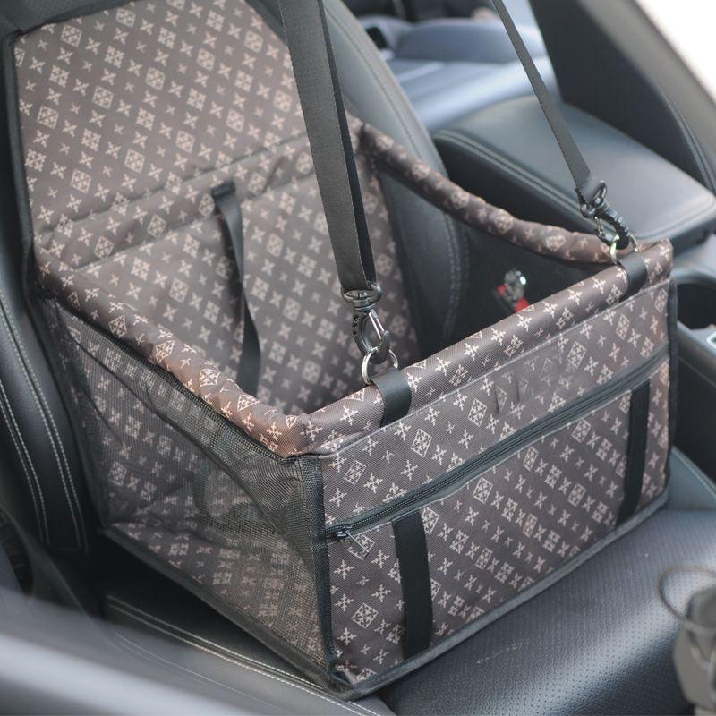 Coussin de siège de voiture de transport renforcé pour animaux de compagnie Safe Carry House Cat Puppy Bag Sac de voyage étanche pour voiture Accessoires Couverture chien imperméable Panier B