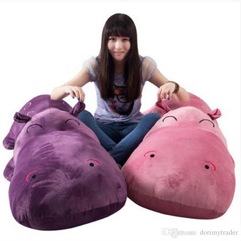 Dorimytrader Jumbo Soft Cartoon Hippos Plush Toy Cute Giant Animal