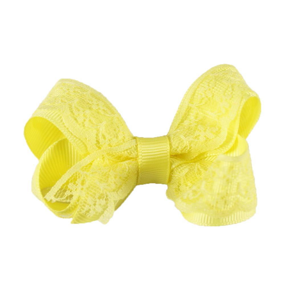 3'' Lovely Lace Hair Bows With Clips Handmade Solid Grosgrain Mini Hairbow For Little Kids Girls Hair Accessories