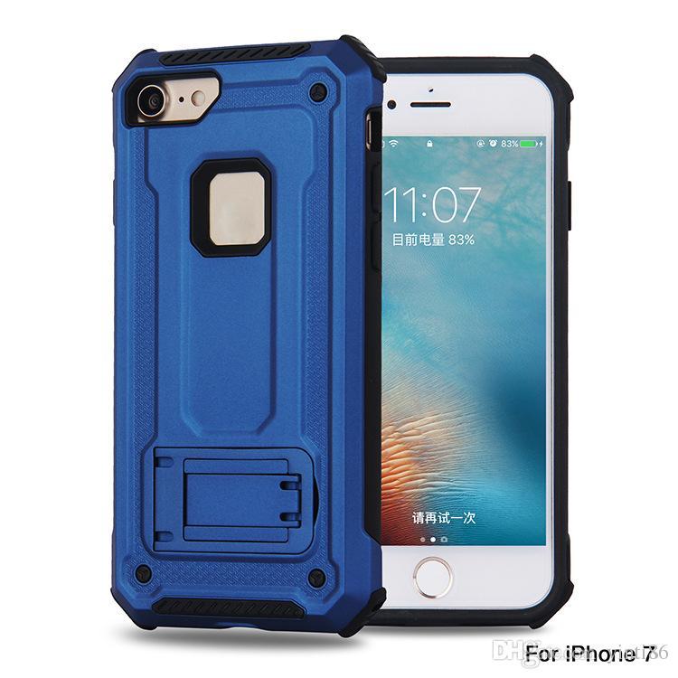 Ímãs montados em armadura kickstand à prova de choque dropproof tpu + pc materia phone case para iphone x 6 s 6 p 7 7 p 8 8 p