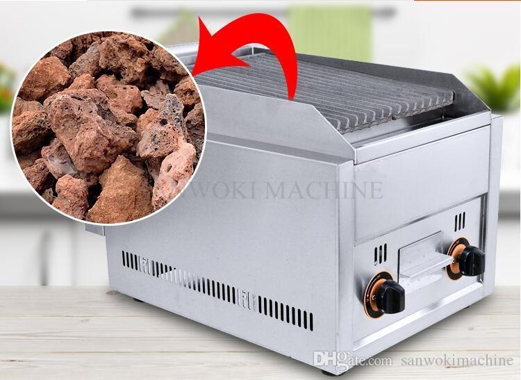 Gril Rock à gaz de comptoir, plaque chauffante pour barbecue à gaz; Barbecue à gaz commercial pour GPL Lava Rock Grill