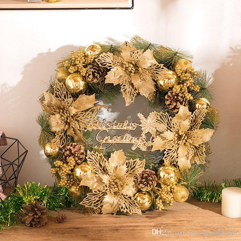 2018 2018 hot sale christmas ttree wreath 118 inch special christmas ornaments door decoration wreaths for home from rosequeenflower 495 dhgatecom