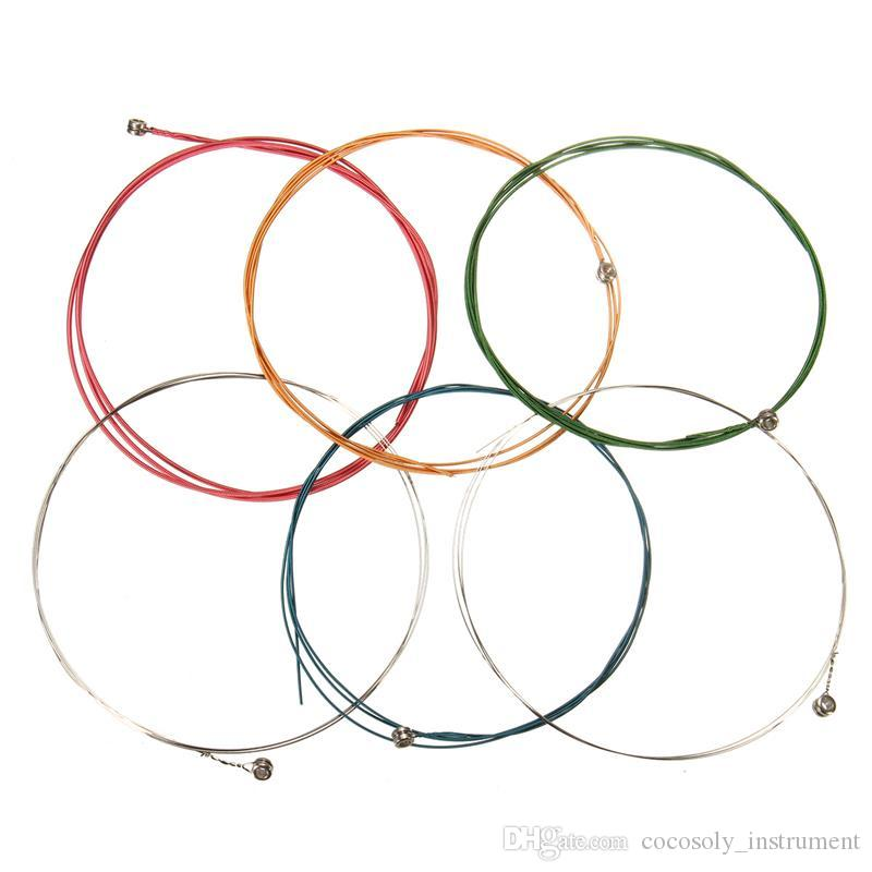 6Pcs/set 80cm Multi Color Acoustic Guitar Strings Musical Instruments Replacements For Classical Acoustic Guitar Parts Accessories