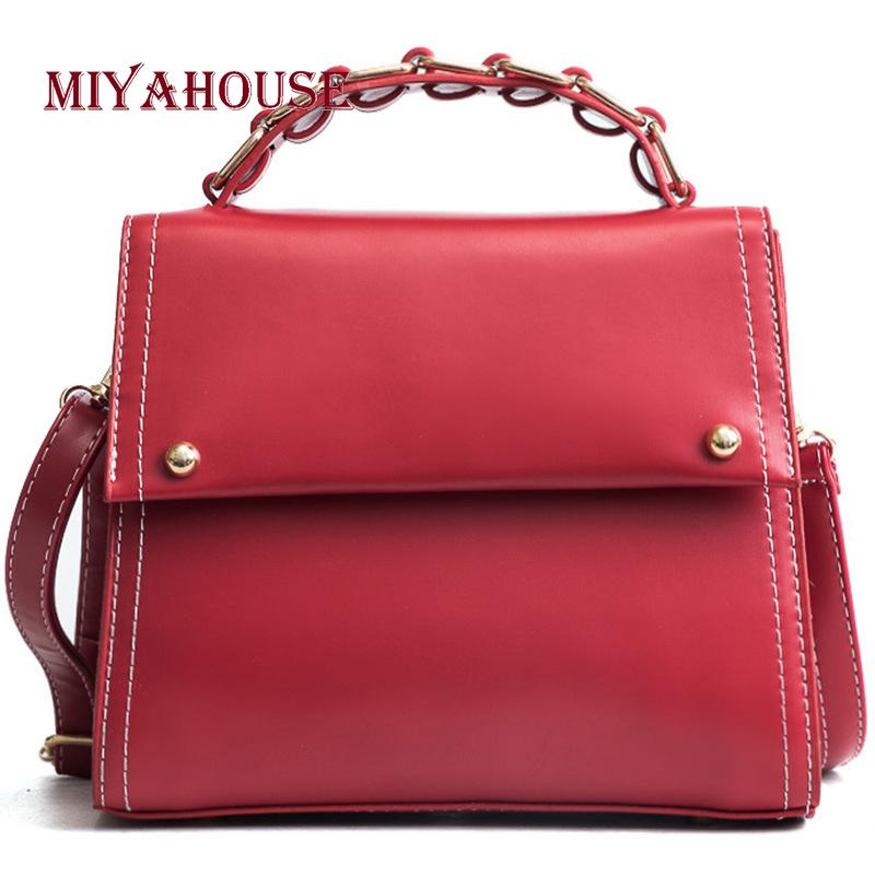 e55042335e30 Miyahouse Hot Sale Solid Color PU Leather Casual Handbag For Women Female  Fashion Hasp Shoulder Bag Ladies Hasp Crossbody Bags