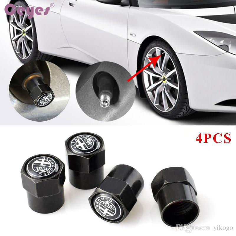 Car wheel tire valves for Alfa romeo 159 156 147 mito gt tyre stem air caps car accessories styling