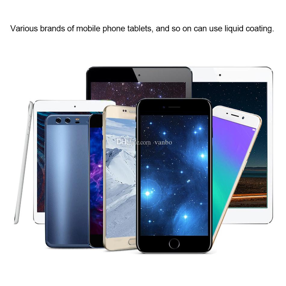 1ML Liquid Nano Tech Screen Protector For iPhone X XR XS Max 8 Plus Samsung S9 Plus IPad Air 3D Curved Edge Full Cover Tempered Glass Film