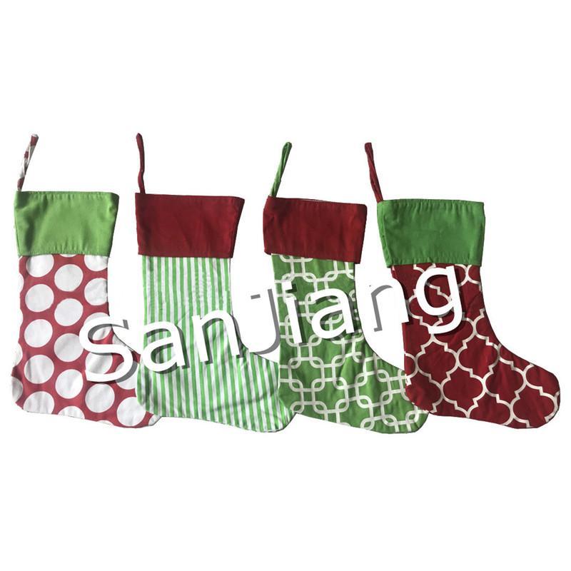 Großhandel 40 * 30 Cm Leinwand Weihnachtsstrumpf Kinder Süßigkeiten ...