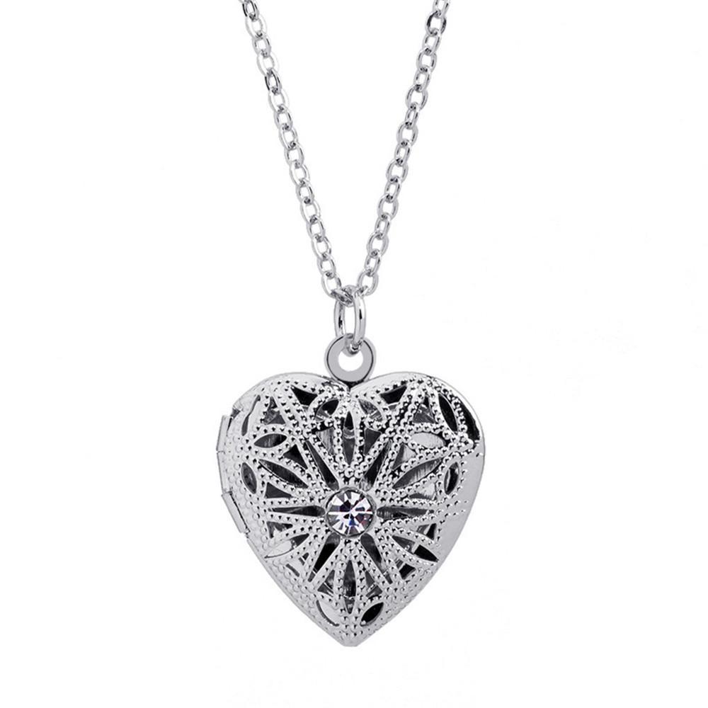 Europa Und Amerika Verkauf Schmuck Liebe Hohl Kristall Halskette öffnen Foto Box Halskette Cx609