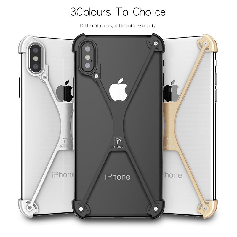 pretty nice 6f1f4 ce511 High Quality Bumper Design Diy Metal Luxury Cell Phone Case Cover for  Iphone X Case Protection Iphone Case