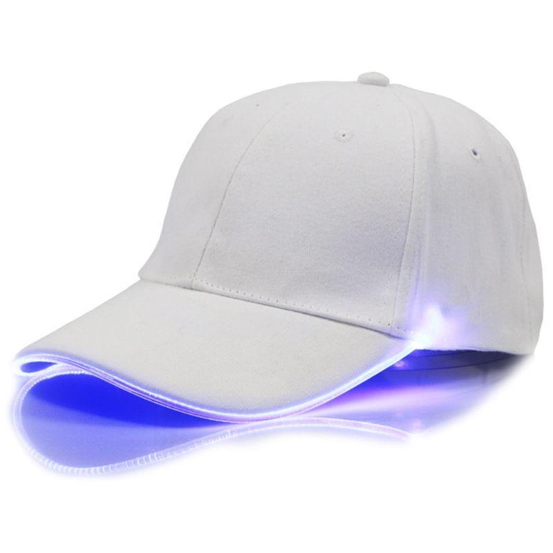 2018 Fashion LED Lighting Adjustable Baseball Cap Sun Hat Men Women Club  Party Baseball Hat Sports Caps Cotton Unisex Solid Caps Flat Brim Hats Baby  Cap ... 672682b9565a