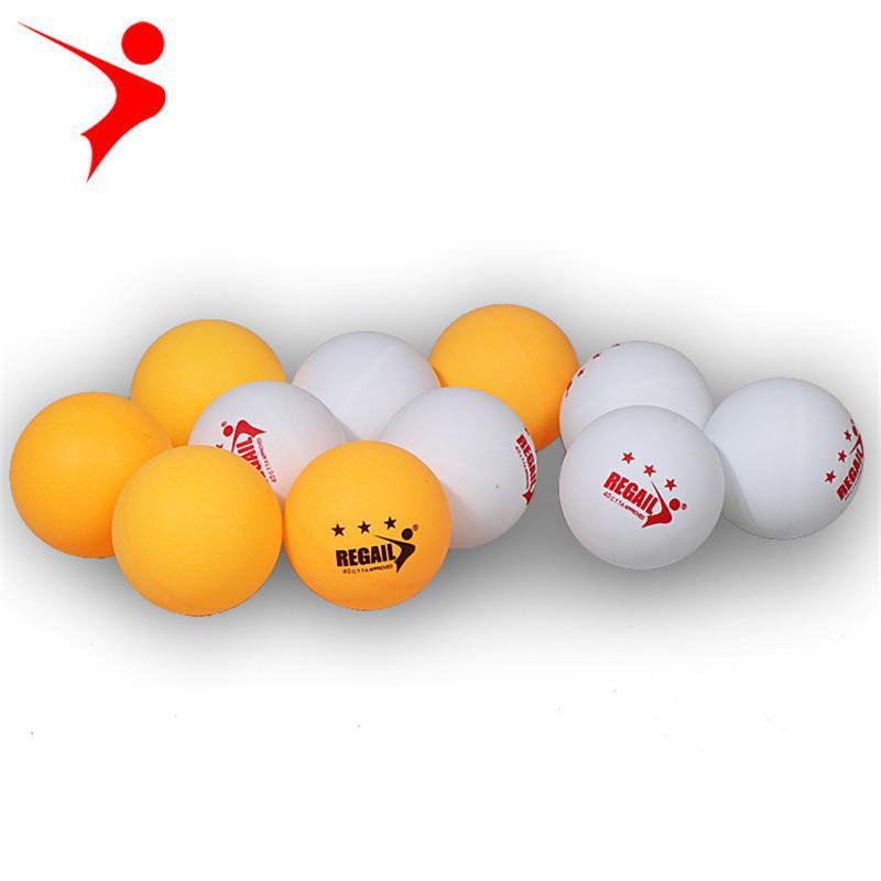 3a848239f Compre Regail ITTF Aprovado Novo Material 3 Estrelas Bola De Tênis De Mesa  PlasticPong Bola 40mm 2.7g Branco Amarelo Para Treinamento De Fopfei