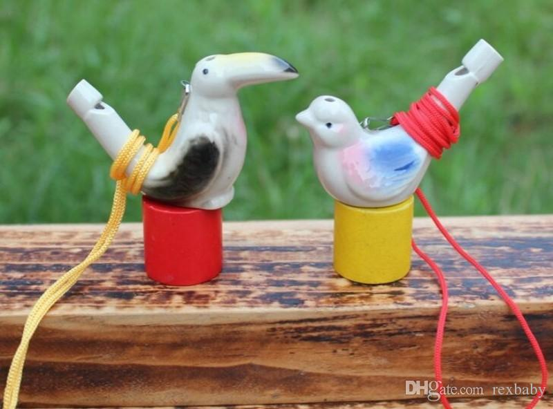 Water Bird Whistle With Rope Clay Bird Crafts Ceramic Glazed Bird Whistle-Peacock Birds Home Decoration Office Ornaments