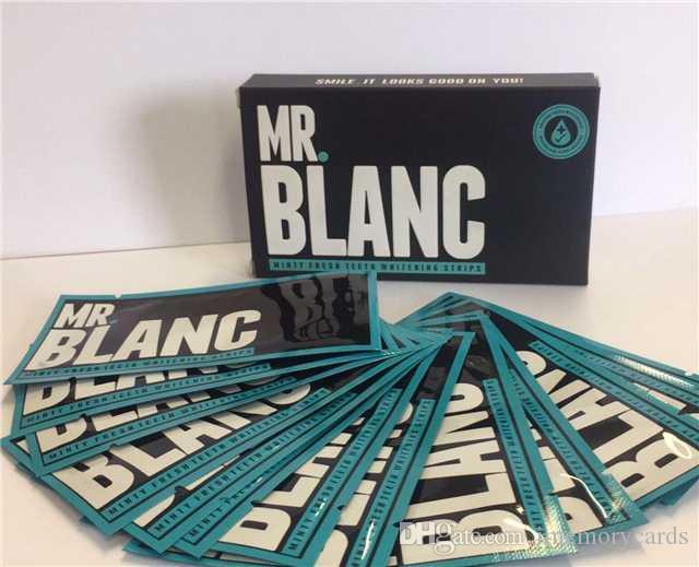 2018 MR BLANC 스트립 - 2 주 공급 -1 BOX = 14 파우치 = 28 스트립 각 파우치는 두 개의 스트립을 포함합니다. 카메라 포토 제품 키트