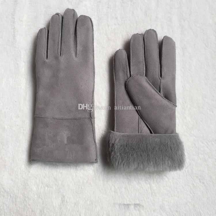 Klasik moda kadınlar yeni yün eldiven deri eldiven birçok renkte 100% yün ücretsiz kargo
