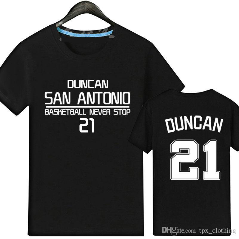 5fa4729fe7c4 Tim Duncan T Shirt Casual Short Sleeve Gown Cool Sport Tees Basketball  Unisex Clothing Quality Cotton Tshirt Ts Shirts A Team Shirts From  Tpx clothing
