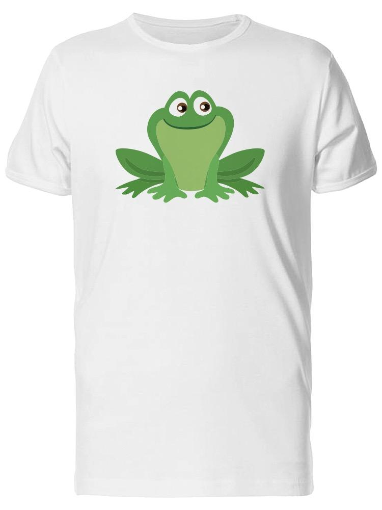 46d1b17733cc6 Cute Illustration Of A Frog Men's Tee -Image by Shutterstock Personality  2018 Brand T Shirt Top Tees Short Sleeve Tops Tee Basic Models tee