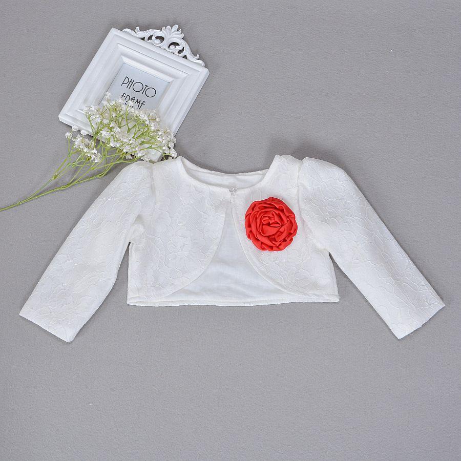 6f646cad1021 Baby Girls Lace Coat Princess Shrug Short Cardigan Infant Bolero ...