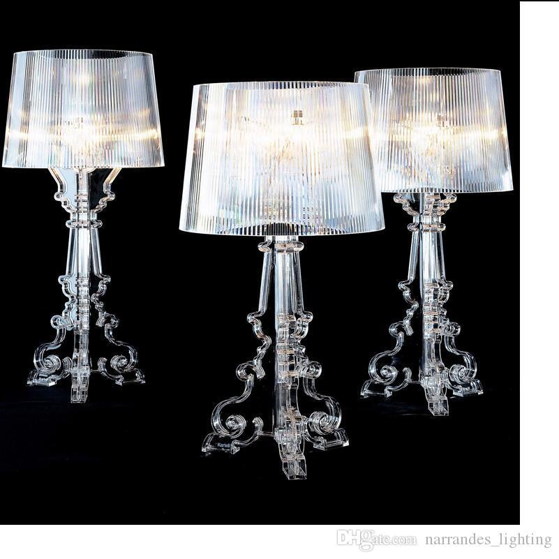 H70cm Bureau De Lumière Lampe Ghost Décoratif Table Lampes Luminaria Acrylique Chevet Shadow Transparent Chambre Salon gbYf76y
