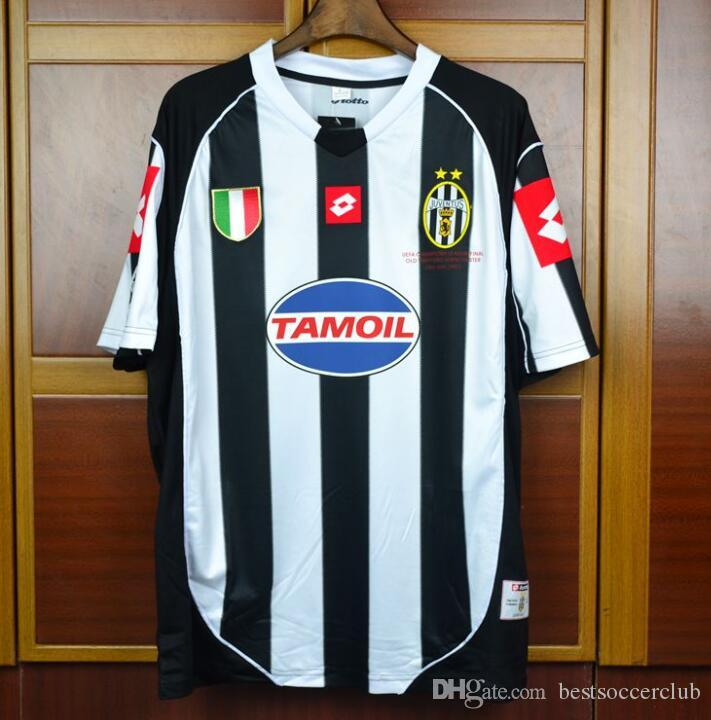 df76ceaa1 2019 02 03 Italia Del Piero Nedved Trezeguet Davids Retro Jersey 2002 2003  Home Champion Final Vintage Classical Football Shirts Camiseta From ...