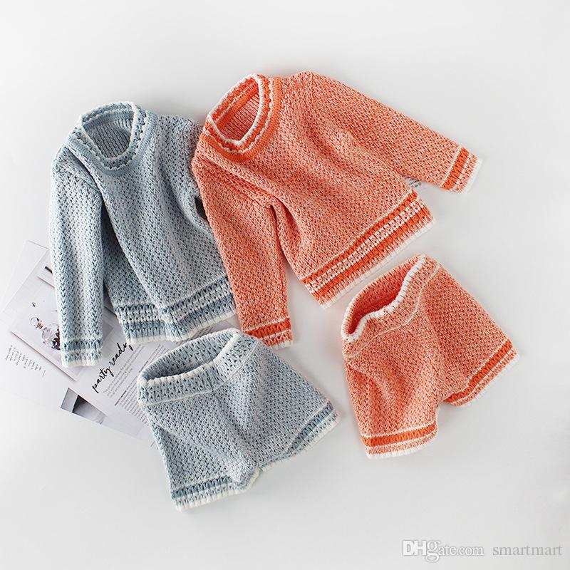 222f2d94b 2018 Everweekend Baby Girls Knitted Sweater Toddler Rompers Outfits ...