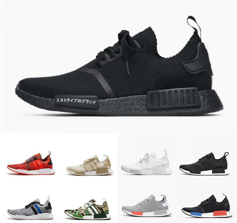 8f6f79c31 2018 Wholesale R1 Shoes Discount Cheap Japan Red Gray Nmd Runner R1  Primeknit Pk Low Men S   Women S Shoes Classic Fashion Sport S Scholl Shoes  Leopard ...