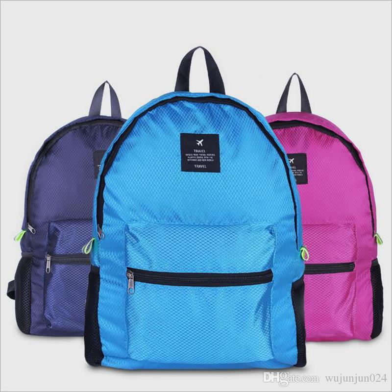 acaad33e18 SHUSHIRUO New Folding Travel Backpack Nylon Grid Waterproof Light Weight  Mountaineering Storage Shoulder Bags School Knapsack Girls Backpacks  Drawstring ...