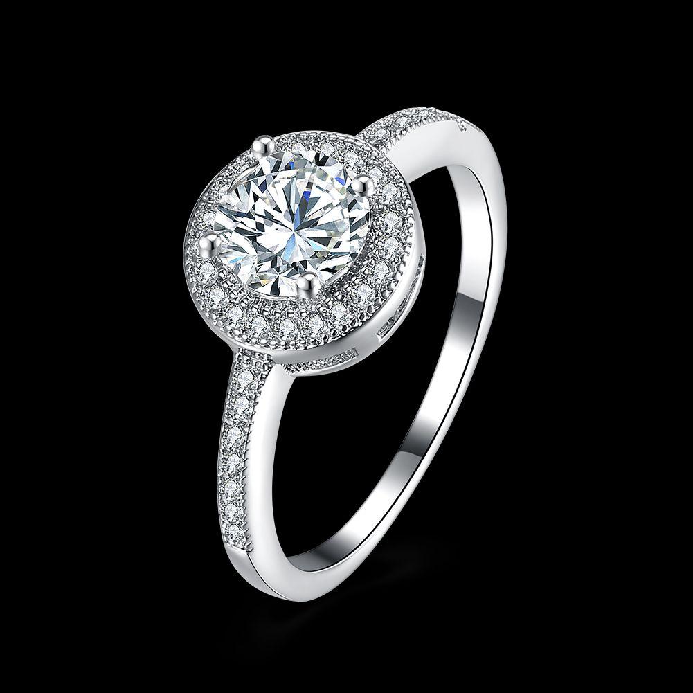 2019 sterling silver cz diamond ring fit pandora style. Black Bedroom Furniture Sets. Home Design Ideas