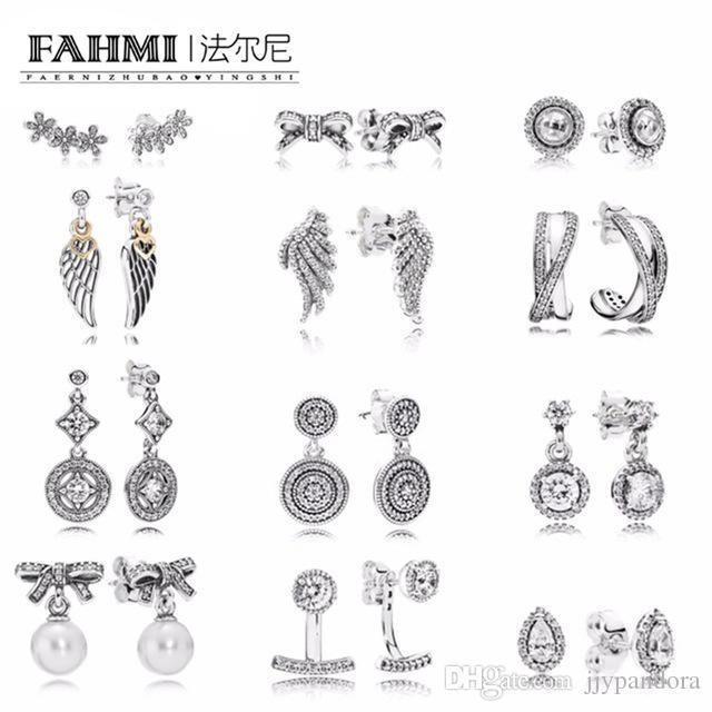17ee79ae8 FAHMI 100% 925 Sterling Silver Earrings Flower Type Hollow Ear Studs Charm  Beads Fit Bracelet DIY Dangler Wholesale Factory Online with $14.75/Piece  on ...