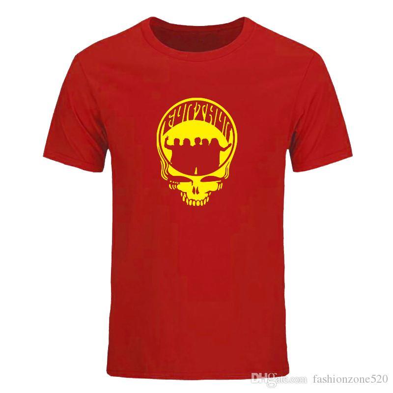 Новая летняя мода Grateful Dead футболка мужчины игры футболка топы с коротким рукавом хлопок рок группа футболки мужская одежда футболка DIY-0693D
