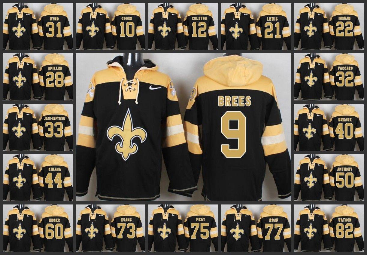2018 New Orleans Saints Men Hoodie  9 Drew Brees 22 Mark Ingram 60 Max  Unger 75 Andrus Peat Pullover Hoodie From Wholesale nfl jersey 59ecf55b5