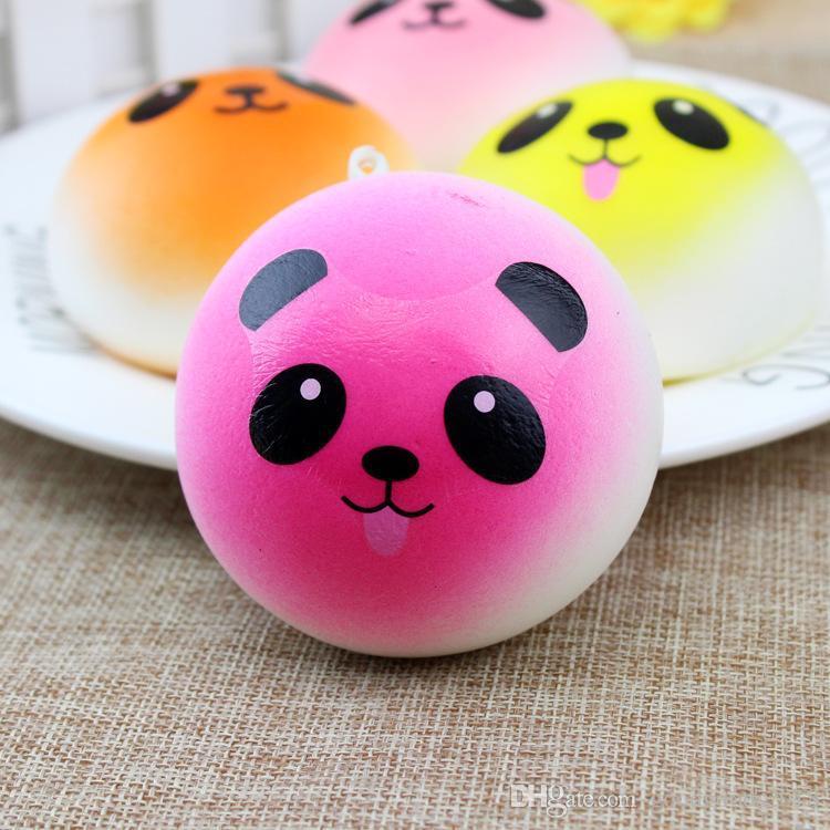 Weiche Squishy langsam steigende Jumbo Panda Squeeze Kid Spaß Spielzeug Stress Reliever Dekor Squishy Charm Phone Strap Geschenk c370