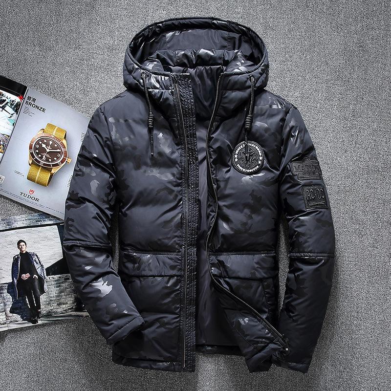 Neue top qualität 70% ente daunenjacke männer mantel dicken schnee parka mit kapuze warme winterjacke männliche oberbekleidung