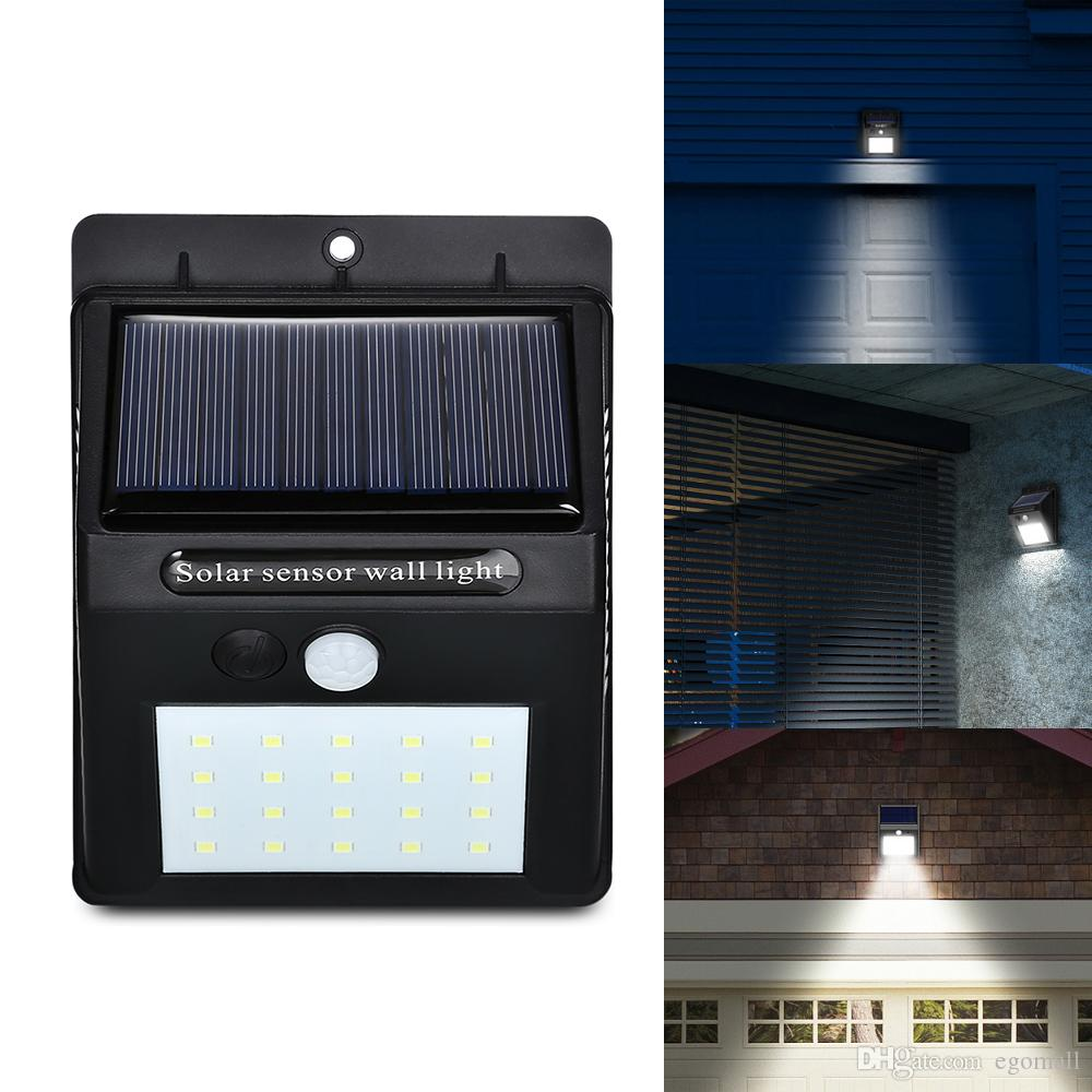 20 Led Solar Powered Wireless Pir Bewegungsmelder Licht Aussenleuchte Garten Lampe Solar Licht Sicherheit Wandleuchte