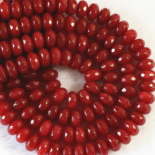 Um warmes Lob von Kunden zu erhalten DIY Halbzeuge 5x8 mm Brasilien Facettiert Roter Rubin Lose Perlen 15 Zoll