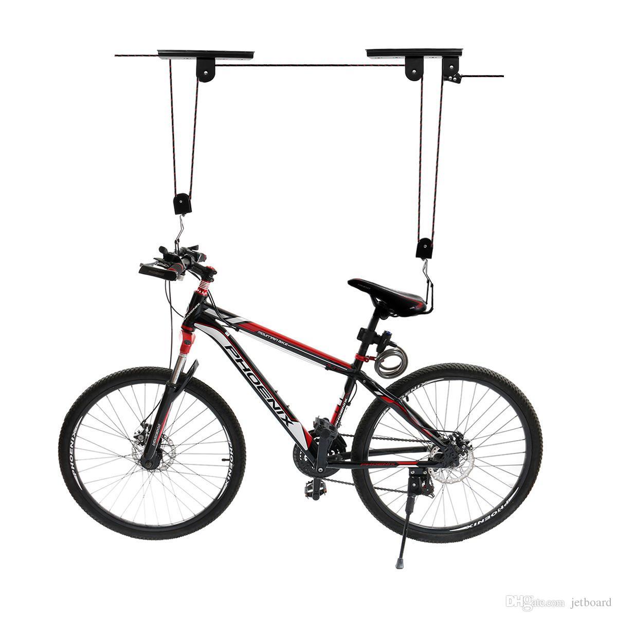 276d93553 Compre Elevador Da Bicicleta Da Bicicleta Elevador De Teto Montado Gancho  Da Garagem Da Bicicleta Da Garagem Salvar Espaço Telhado Da Polia Da Tenda  Da ...